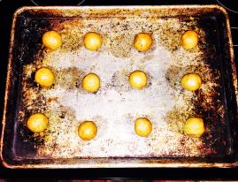 balls of dough - Sour Cream PB Kiss Cookies