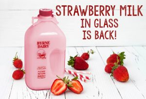 strawberry milk in a glass bottle from byrne dairy 300x203 - strawberry milk in a glass bottle from byrne dairy