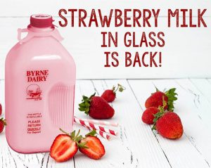 strawberry milk in a glass bottle image from byrne dairy 300x239 - strawberry milk in a glass bottle image from byrne dairy